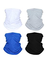 Cycling Scarf UV Dust Protection Face Cover Breathable Elastic Neck Gaiter (4pcs)