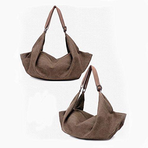 Bag Brown Women Bag Messenger Canvas Bag Backpack SODIAL Shoulder Handbags wqEXzx7