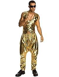 Men's MC Hammer Gold Costume Pants