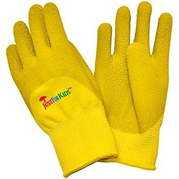 g u0026 f 20402g justforkids premium microfoam texture coated kids garden gloves kids work gloves yellowgreen 1 pair