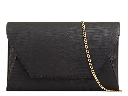 LeahWard® Purse High Flap Black Faux Leather Style Women's Clutch CWE00264 Handbag 822 Quality Envelop HqHvrUg