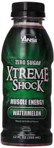 Ansi Xtreme Shock RTD Energy Drink, Watermelon, 12 oz., 12 C