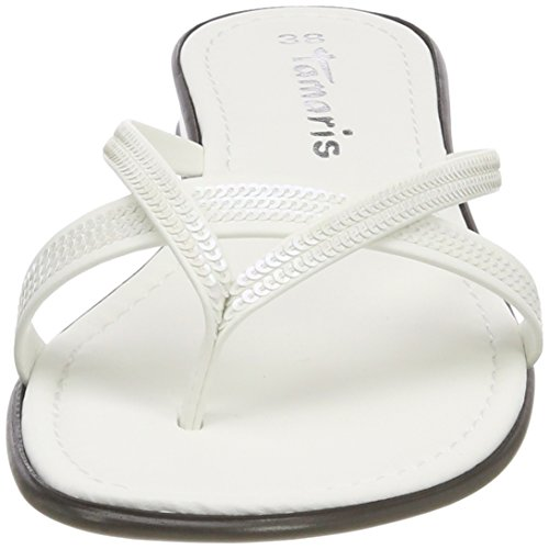 27117 white 100 Tamaris Women''s Mules White wZ4Yf5xa