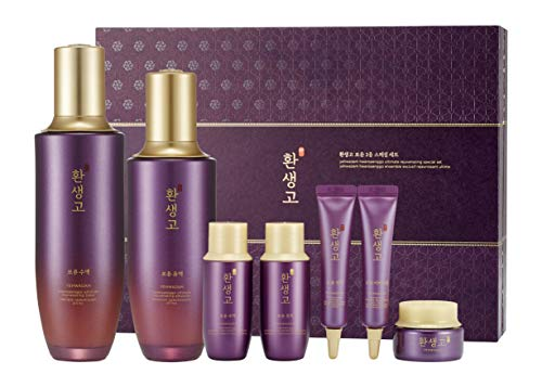 [THEFACESHOP] YEHWADAM Hwansaenggo Ultimate Rejuvenating Skincare Set, Premium Facial Moisturizer and Brightener