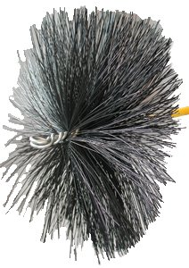 Rutland PBXT-24 24 in. Diameter Round Professionals Choice Polypropylene Duct Cleaning Brush Head With Tlc Torque Lock Connector