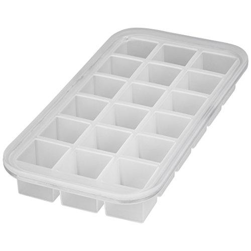 Levivo Silikon Eiswürfelform für 18 Eiswürfel, 27 x 14 x 4 cm, Weiß