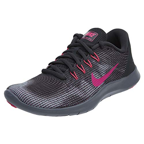 NIKE Women's Flex RN 2018 Running Shoe Anthracite Hyper Pink Grey