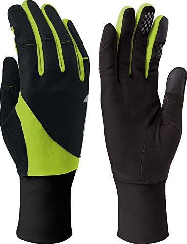 メンズStorm Fit 2.0 Run Gloves(XL、ブラック/ボルト)