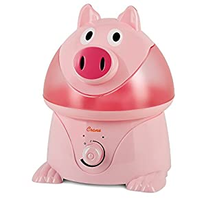 Crane USA Filter-Free Cool Mist Humidifiers for Kids, Pig
