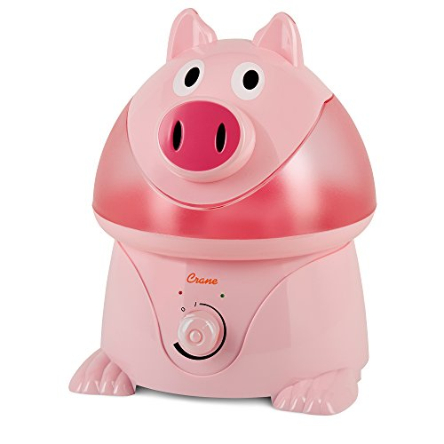 Crane Filter-Free Cool Mist Humidifiers for Kids, Pig
