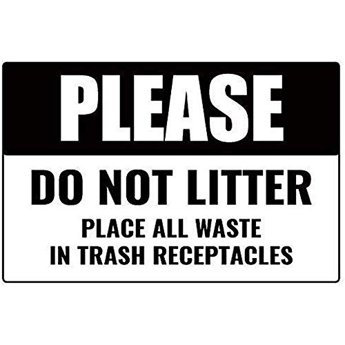 Funny Plaque Signs Please Do Not Litter Business Place Trash in Basket Metal Sign for Gardern Garage Street Sign
