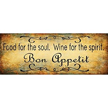 amazon com bon appetit food for the soul wine for the spirit metal rh amazon com  bon appetit sign for kitchen hobby lobby