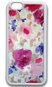 Vintage Flowers Watercolor DIY Rubber White iphone 6 Case Perfect By Custom Service