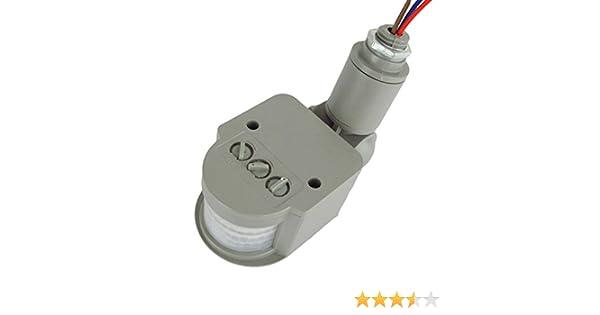 Sensor de movimiento por infrarrojos LED interruptor AC 220 V: Amazon.es: Electrónica