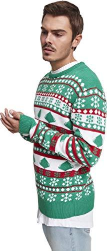 Uomo Urban Felpa Snowflake Multicolore Tree 01567 firered Sweater white evergreen Christmas Classics WgpYpnqA