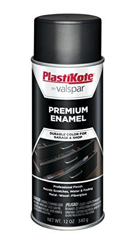 (PlastiKote T-8 General Purpose Satin Black Premium Enamel - 12 Oz.)