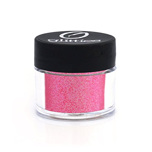 Glitter Tattoo Glam Rock Kit (Shocking Pink - Bright Iridescent Pink Fine Glitter Powder .008