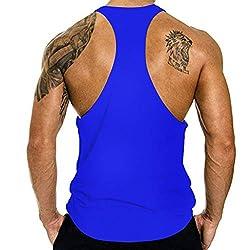 Ykaritianna Men S Summer Fashion Flag Printing Elastic Sleeveless Fitness Vest Blouse Tops Dark Blue