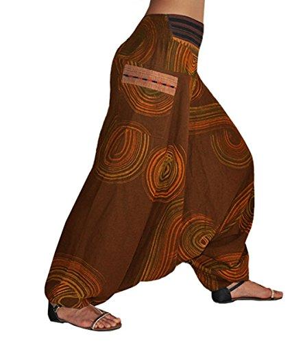 Pantalon Unisexe Ethniques Avec Ethnique Ethnique Élastique Unique Taille Une Traumfänger Sarouel Traditionnels Tissages Et L Confortable Vêtements S Marron Virblatt wZEBx55q