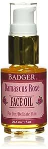 Badger Balm - Damascus Rose Antioxidant Face Oil - Certified Organic,1 oz.
