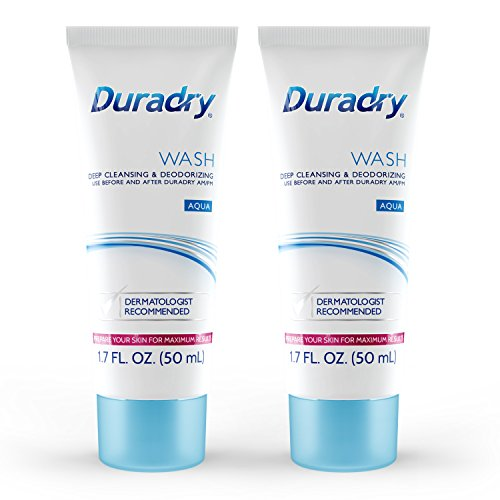 Duradry Wash 50mL Odor Control - Deep Cleansing and Deodorizing. Eliminates Odor Causing Bacteria and Inhibits its Growth. Neutralizes Odors while Nourishing your Skin (2-Pack)