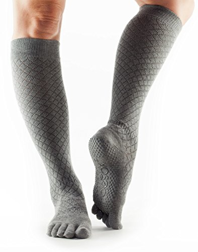 Collection Fishnet (ToeSox Scrunch Women's Full Toe Grip Socks (Fishnet Storm) X-Small - Spring Collection)