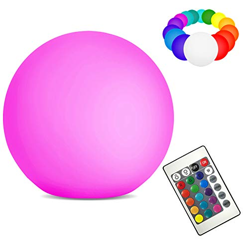 Solar Floating Swimming Pool Ball Light with Remote Control Outdoor Color Changing Waterproof LED Lights Globe Lamps for Garden Pool Patio Party Decoration(8'')