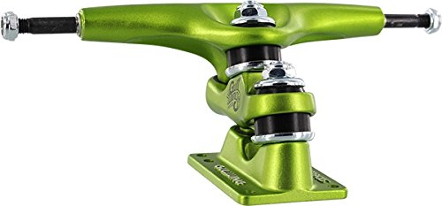 Gullwing Trucks Sidewinder II Lime Green Skateboard Double Kingpin Trucks - 185mm Hanger 10