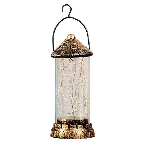 Alamana Vintage Decorative Lights Desktop Table Lamp Shiny Filament Handle Hanging Light Christmas Decor Random Color -