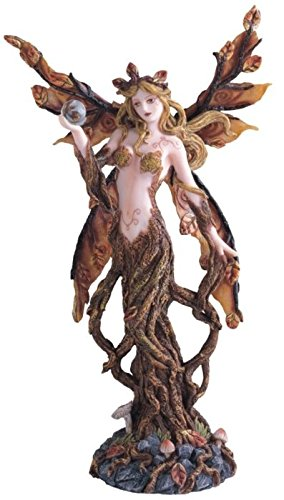 StealStreet SS-G-91403 Brown Tree Fairy with Crystal Ball Collectible Figurine