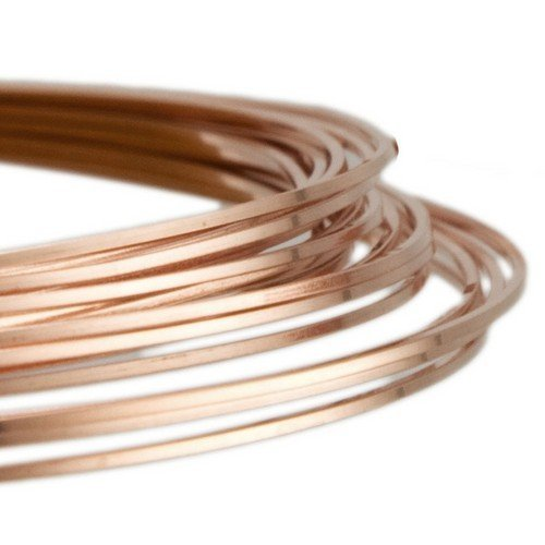 1 x Rose Gold Square Copper Craft Wire 6 Metre x 0.8mm Coil - (X1695) - Charming Beads Something Crafty Ltd