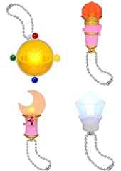 ¡ ABS-made light mascot ¡ all four set ¡ The contents of a set-transformation brooch (about 58mm) ? disguise pen (about 62mm) ? Silver Crystal (about 51mm) of phantom Moon stick (about 65mm) ¦ when the battery has expired We can not respond t...