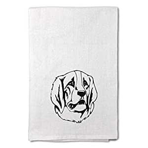 Style In Print Custom Decor Flour Kitchen Towels Pyrenean Mastiff Head Black Pets Dogs Cleaning Supplies Dish Towels Design Only 13