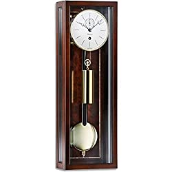 Kieninger Micronis 2806-22-02 Mini Regulator Wall Clock, 31-Day, Walnut