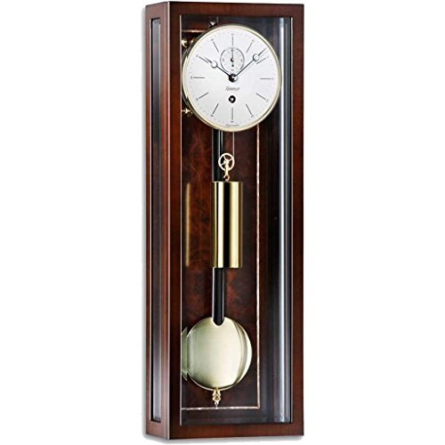 Kieninger Micronis 2806-22-02 Mini Regulator Wall Clock, 31-Day, Walnut (Regulator Glass Clock)