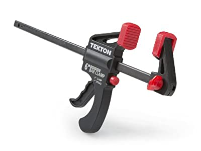 TEKTON Mini 6-Inch by 1.5-Inch Ratchet Bar Clamp and 9-Inch Spreader