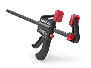 TEKTON Mini 6-Inch x 1-1/2-Inch Ratchet Bar Clamp and 9-Inch Spreader | 39180