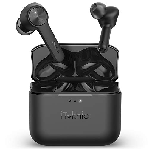 iTeknic Wireless Earbuds, Bluetooth Earbuds with Charging Case, 24 Hours Playtime, Touch Control True Wireless Earbuds, Superior Sound, Noise Isolation Microphones, and Secure Fit