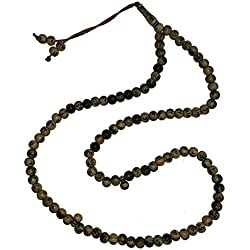 Marble Brown Plastic Tasbih with Allah Muhammad Beads - 7mm Islamic Dhikr Prayer Beads Rosary