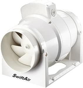 Extractor de Aire en Línea Poderoso Caudal Mixto 220m3/h 61 l/s ...