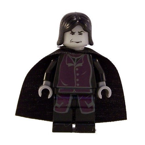 Lego Harry Potter Professor Severus Snape Minifigure with Black Cape