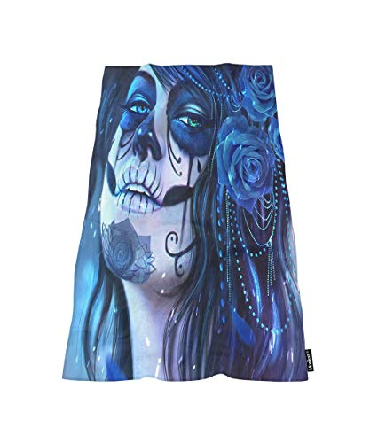 Moslion Comfy Bath Towels Face Paint Sugar Skull and Flowers Soft Bathing/Beach/Camping Towel for Women Men Girls Boys Large Size 64x32 Inches -