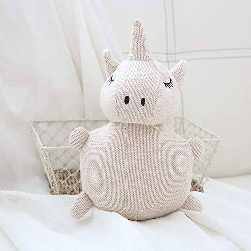 WATOP Stuffed Animals - Unicorn | Lucky boy Sunday Baby appease Wool Knitting Animals Plush Doll Unicorn Elephant Dog Rabbit Stuffed Plush Toy Soft Kids Doll(unicorn-18cm)