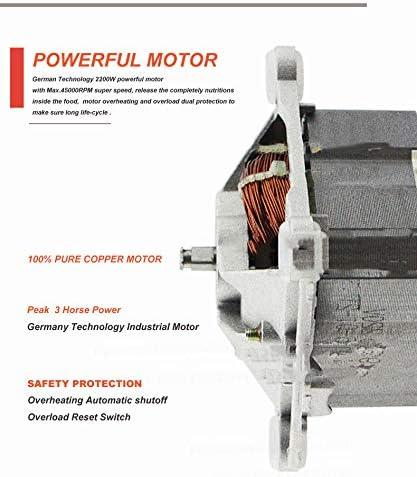 Procesador de Alimentos con picadora, Pantalla LED HD Tiempo/Velocidad Visible, Contenedor para batido de licuadora, Exprimidor Profesional de Alta Velocidad, Aspecto Moderno.