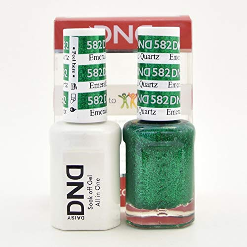 DND Gel and Matching Polish #582 Emerald - Emerald Lacquer