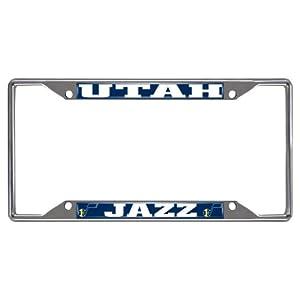 FANMATS NBA Utah Jazz Chrome License Plate Frame