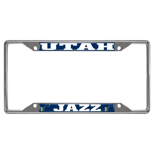 FANMATS NBA Utah Jazz Chrome License Plate Frame by Fanmats