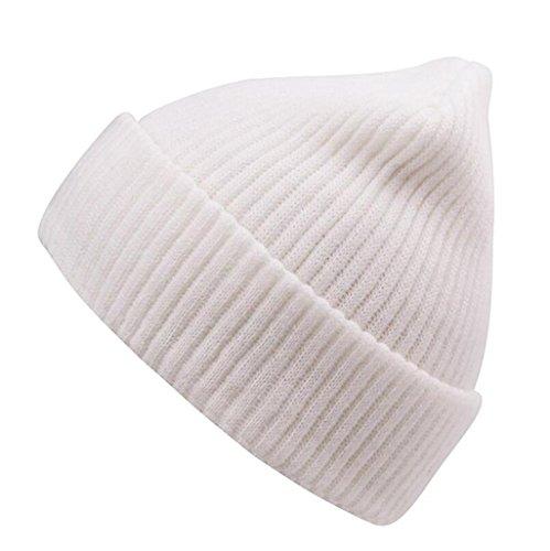Peludo Hat Hop de Invierno punto White Sombrero ZHAS e Gorro moda Hip Otoño Exterior qB0wSqFc7x
