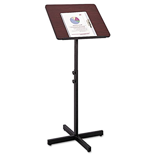 (Adjustable Speaker Stand, 21w x 21d x 29-1/2h to 46h, Mahogany/Black [ESS])