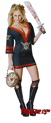 UHC Women's Miss Jason Voorhees Friday The 13Th Gothic Sexy Halloween Costume, L (Miss Voorhees Costume)